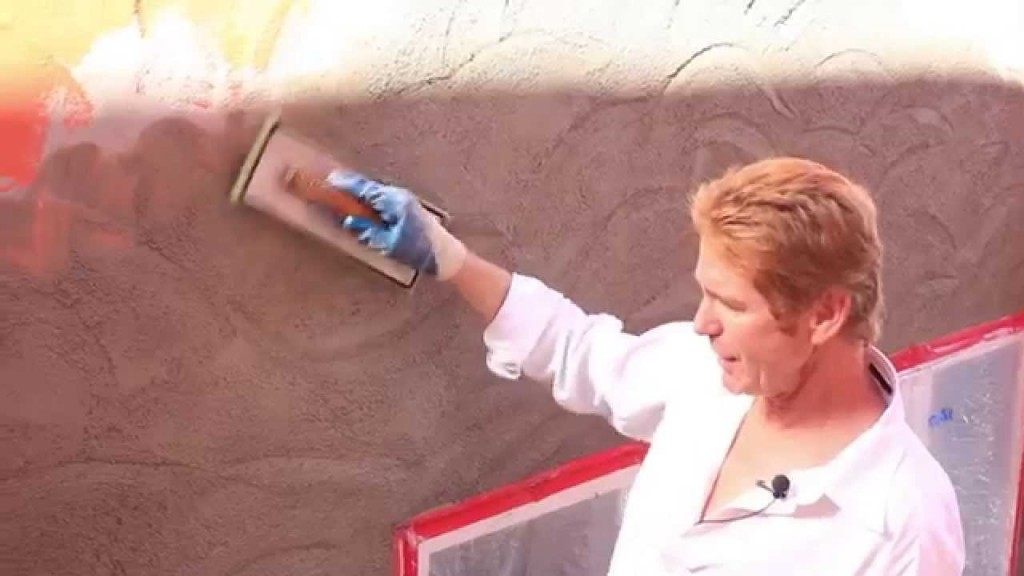 Adobe plaster finish, plus Helicopter flying at end of video
