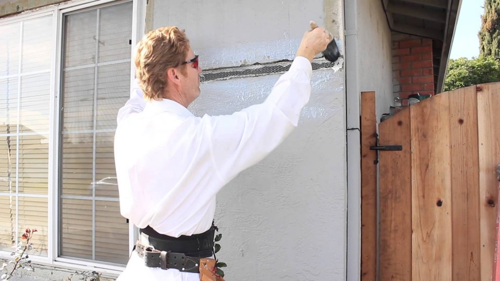 Home stucco repairs made simple, feathering in crooked walls