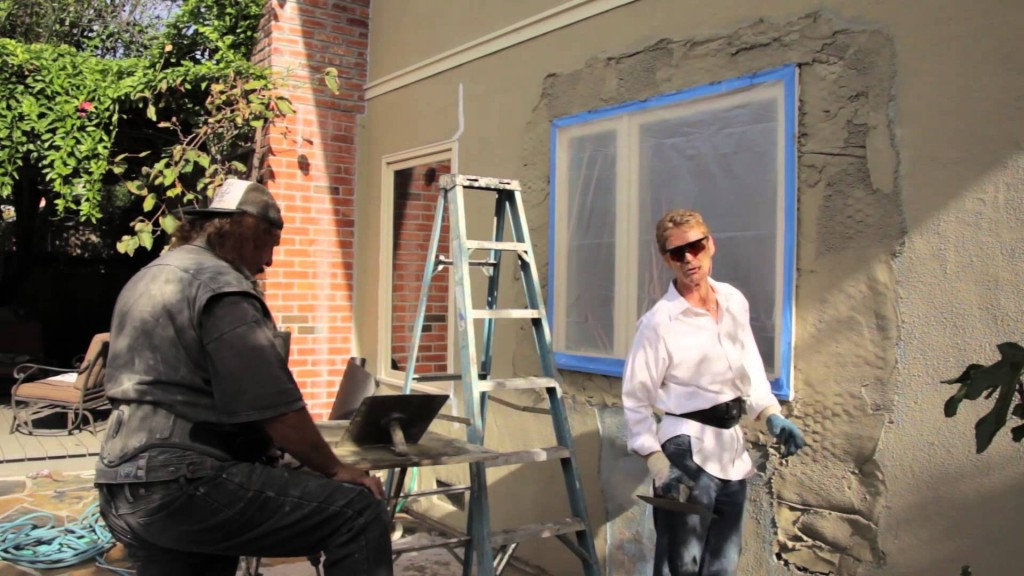 Plaster or stucco over drywall or fiberboard, fast plastering