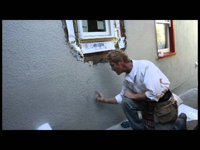 Break out stucco then repair a newly installed window, timelapse