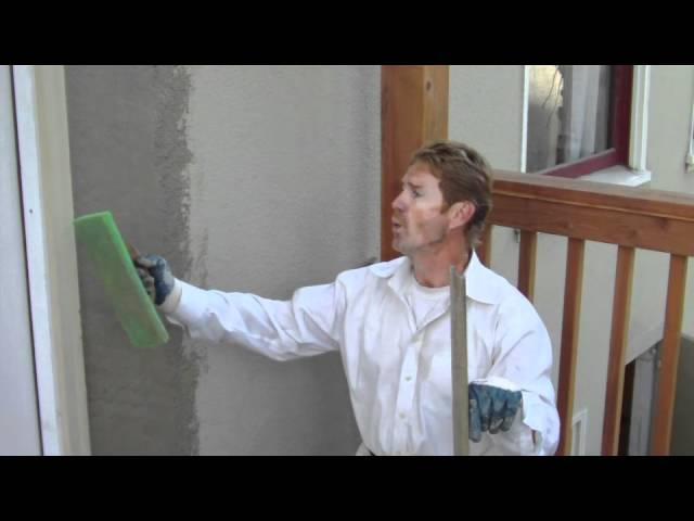Outside Plaster repairs on newly installed french doors