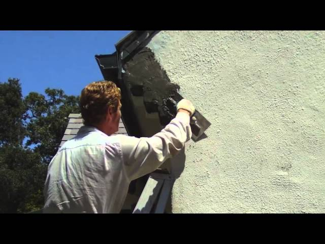 Repair a plaster or stucco corner by hand, quick crooked stucco fix
